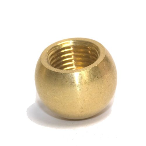 Solid Brass 16mm Ball Finial M10 x 1mm thread